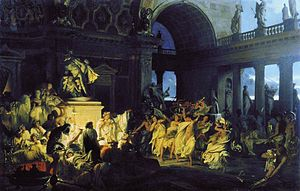 Decadence - An orgy in Imperial Rome, by Henryk Siemiradzki
