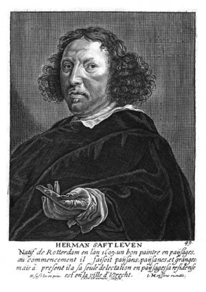 Herman Saftleven - Herman Saftleven in Het Gulden Cabinet p 275