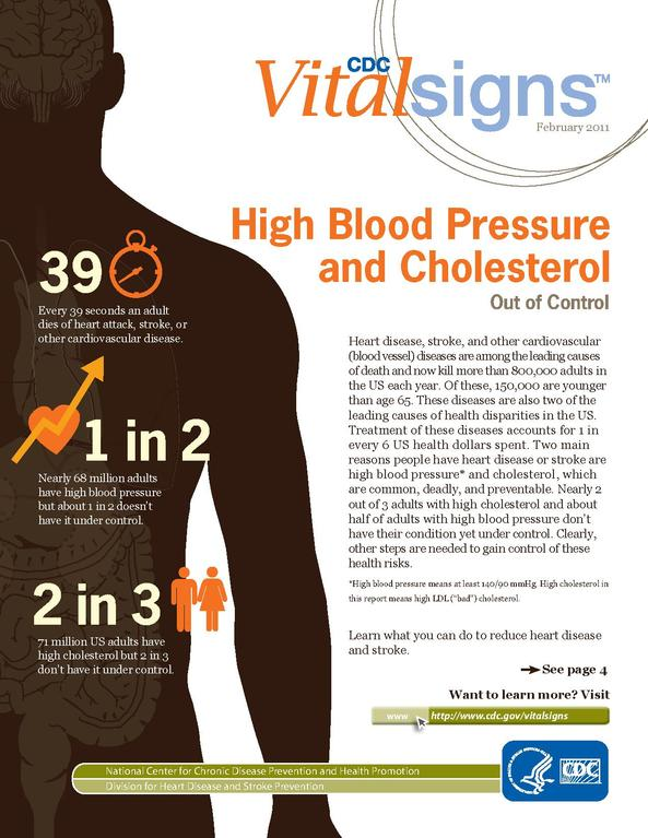 cholesterol and high blood pressure relationship