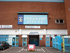 Coventry City F.C. - Coventry City played at Highfield Road between 1899 and 2005
