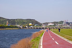 Daejeon - Walking path along the Gap River