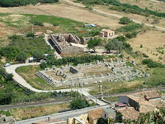 Himera - Remains of the Temple of Victory at Himera