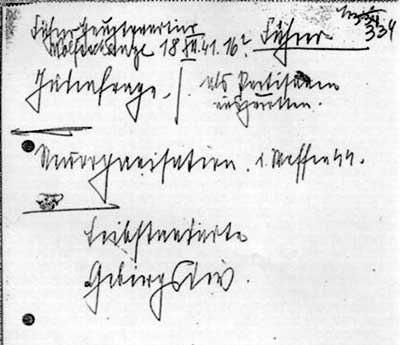 Himmler note 18 december 1941