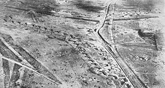 Bullecourt - The remains of Hindenburg Line at Bullecourt (as seen after the war, in 1920).