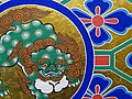 Hira Zaishiki Polychrome Decoration from Restoration - Nikko Toshogu Museum - Nikko - Japan (48048310073).jpg