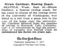 Hiram Boardman Conibear obituary.png