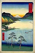 Hiroshige - 36 Views of Fuji-san - 28. Lake Suwa.jpg