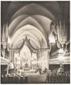 Historisk bild över Karl XIV Johans begravning i Riddarholmskyrkan, 1844 cirka - Skoklosters slott - 100456.tif