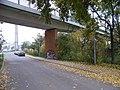 Hloubětín, K náhonu, most cyklostezky Rokytka (01).jpg