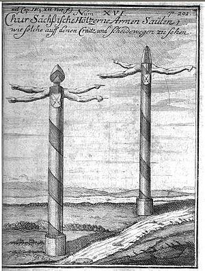 Fingerpost - Early wooden fingerposts in Saxony