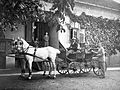 Horse, coach, carriage, tableau, genre painting, man, woman, teamster Fortepan 3796.jpg