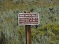 Horse Canyon Trail sign, Emery County, Utah, Aug 10.jpg