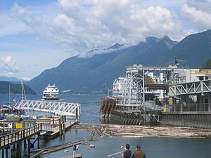Horseshoe Bay ferry terminal - A ferry departing the Horseshoe Bay ferry terminal.