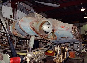 Horten Ho 229 - Horten Ho 229 V3 prototype at the Smithsonian's Garber restoration facility (National Air and Space Museum)