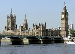 The Palace of Westminster on the River Thames