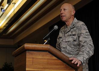 Howard D. Stendahl - Chaplain Stendahl delivers the keynote address at the Mountainhome Air Force Base National Prayer Breakfast