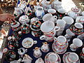 Hrnčířské trhy Beroun 2011, chodská keramika Jaroslava Mojžíše.JPG