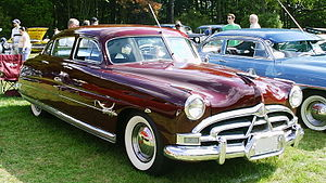 Hudson Hornet four-door sedan finished in burgundy