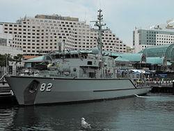 HMAS Huon im Jahr 2010