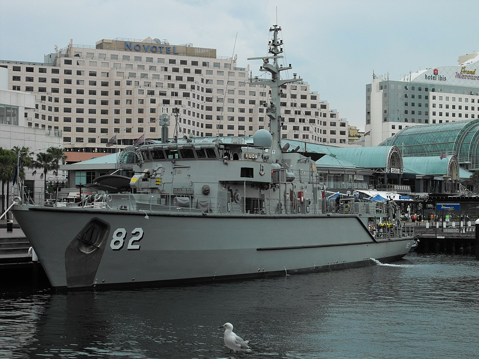 HMAS Huon at Darling Harbour in January 2010