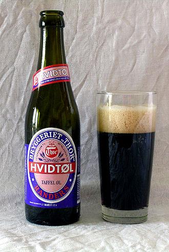 Beer in Denmark - A bottle of Hvidtøl