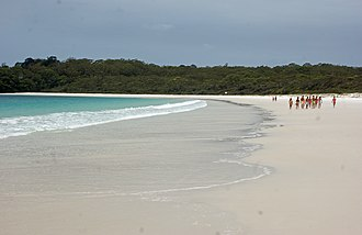 Jervis Bay Territory - Hyams Beach, a white sandy beach.