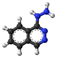 Ball-and-stick model of the hydralazine molecule
