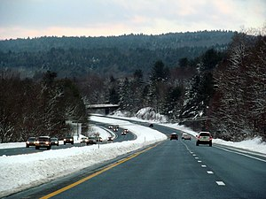 Westminster (town), Vermont - Image: I 91 in Westminster, VT at sunset