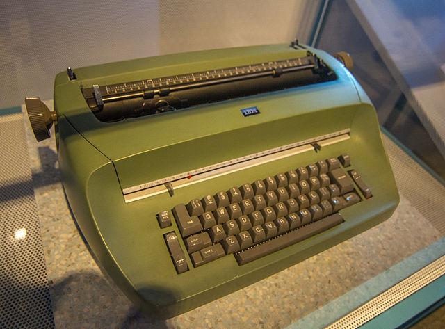 Green Selectric Typewriter