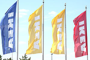 IKEA flags at the store in Pittsburgh, Pennsyl...