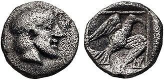 Archeptolis - Image: IONIA, Magnesia ad Maeandrum. Archepolis portrait and eagle. Circa 459 BC
