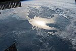 ISS-56 English Channel and the North Sea lit by the Sun's glint.jpg