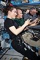 ISS-61 Soyuz MS-13 return crew trains emergency response skills in the Destiny lab.jpg