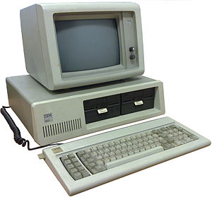 English: IBM Personal Computer model 5150 with...