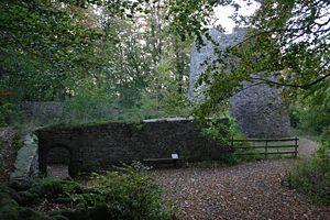 Mauerreste mit Bergfried