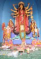 Idol of Goddess Durga at a Panadal in Kolkata 08.jpg