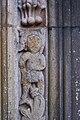 Igreja de Santa Bárbara (cedros), Cedros, aspecto da porta, figuras, concelho da Horta, ilha do Faial, Portugal.JPG