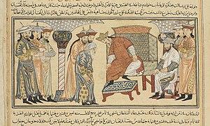 Il-Arslan - Il-Arslan seated on his throne.