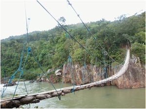 Sagay, Negros Occidental - Inangtan Hanging Bridge over the Himogaan River