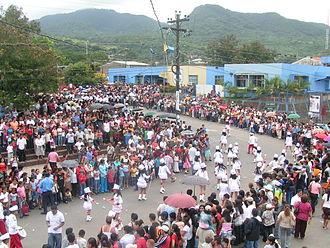 Culture of Nicaragua - A Nicaragua Independence Day Parade, Matagalpa, 2007.