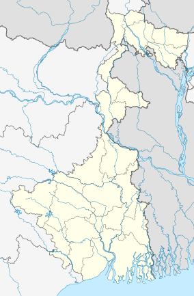 Map showing the location of Sundarbans National Park