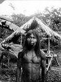 Indian med näsprydnad av silver. En face. Choco. Colombia - SMVK - 004060.tif