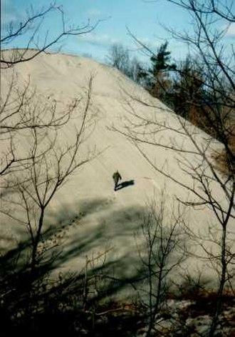 Lake Michigan - Sand dune on Lake Michigan at Indiana Dunes National Lakeshore