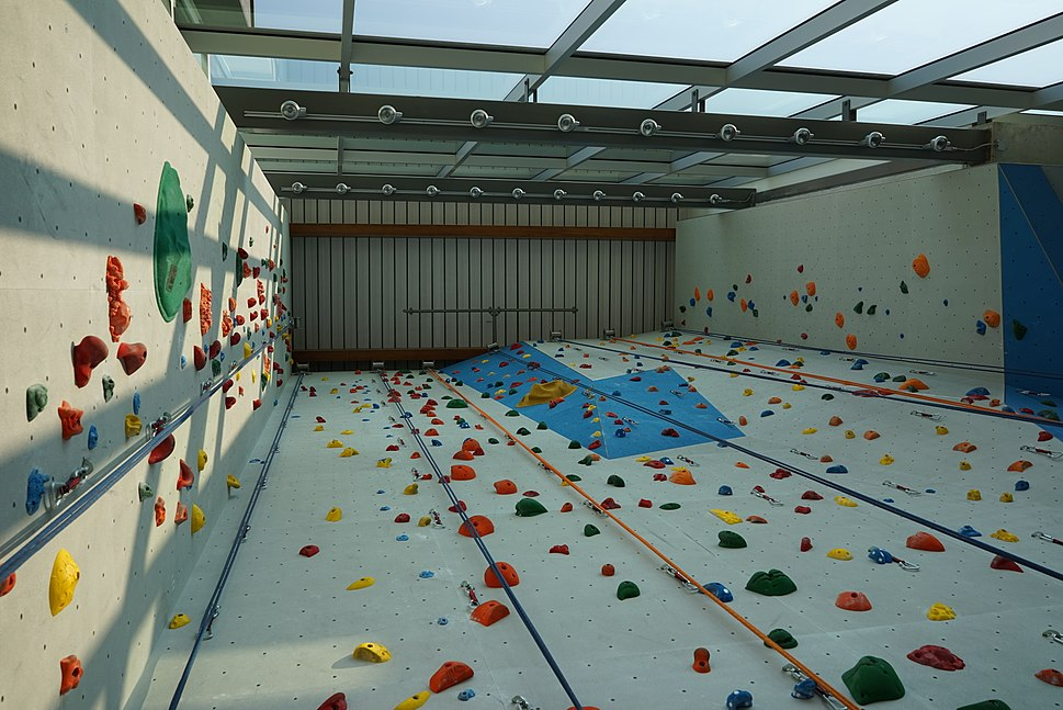 Indoor climbing at the UBC Student Union Building