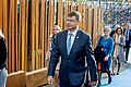 Informal meeting of economic and financial affairs ministers (ECOFIN). Arrivals Valdis Dombrovskis (37083553402).jpg
