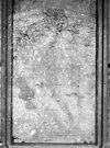 interieur- schetsontwerp in houtskool, aangetroffen op een muur in de benedenzaal -