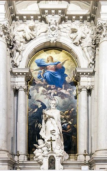 File:Interior of Santa Maria della Salute (Venice) - Altare dell'Assunta.jpg