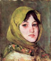 Ion Andreescu - Peasant Woman with Green Kerchief.jpg