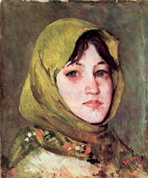 Datei:Ion Andreescu - Peasant Woman with Green Kerchief.jpg