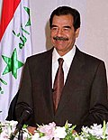 Saddam Hussein, executed by hanging